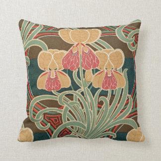 Art Nouveau Pattern #4 at Emporio Moffa Throw Pillow