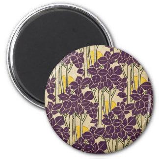 Art Nouveau pattern #5 2 Inch Round Magnet