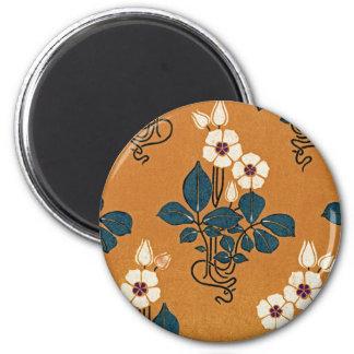 Art Nouveau pattern #7 2 Inch Round Magnet