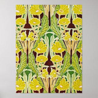 Art Nouveau Pattern #7 at Emporio Moffa Poster
