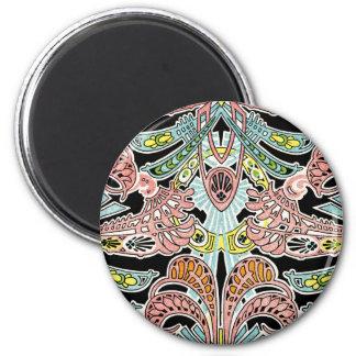 Art Nouveau pattern #8 2 Inch Round Magnet