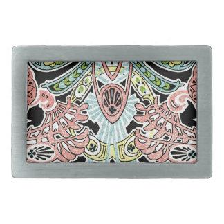 Art Nouveau pattern #8 Rectangular Belt Buckle