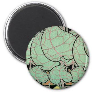 Art Nouveau pattern #9 2 Inch Round Magnet