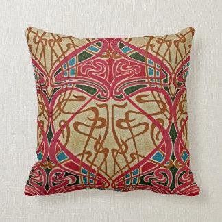 Art Nouveau Pattern #9 at Emporio Moffa Throw Pillow