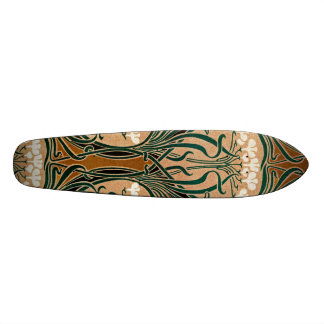 Art Nouveau pattern #9 Skateboard