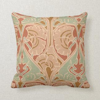 Art Nouveau Pattern Antique Print Pillow