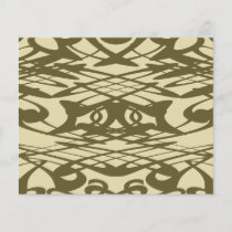 Art Nouveau Pattern in Beige and Brown.