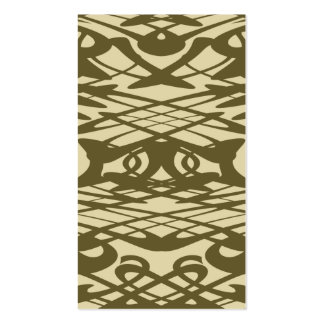 Art Nouveau Pattern in Beige and Brown. Double-Sided Standard Business Cards (Pack Of 100)