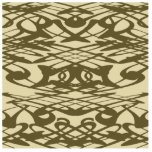 Art Nouveau Pattern in Beige and Brown. Cut Out