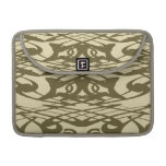 Art Nouveau Pattern in Beige and Brown. Sleeves For MacBook Pro