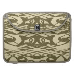 Art Nouveau Pattern in Beige and Brown. Sleeve For MacBook Pro