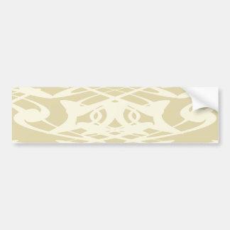 Art Nouveau Pattern in Beige and Cream. Bumper Sticker