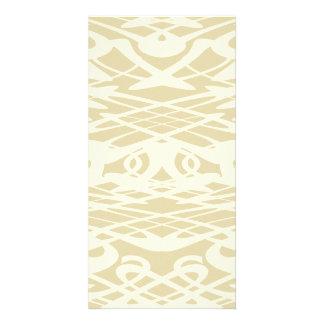 Art Nouveau Pattern in Beige and Cream. Card