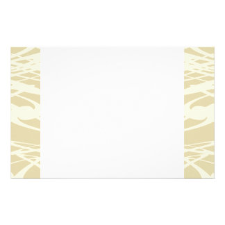Art Nouveau Pattern in Beige and Cream. Stationery