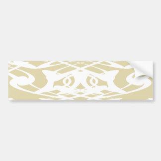 Art Nouveau Pattern in Beige and White. Bumper Stickers