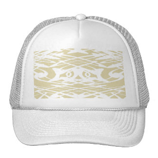 Art Nouveau Pattern in Beige and White. Mesh Hats