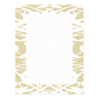 Art Nouveau Pattern in Beige and White. Postcard