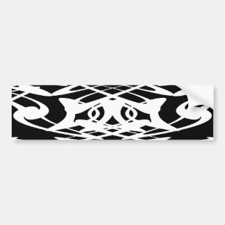 Art Nouveau Pattern in Black and White. Bumper Sticker