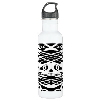 Art Nouveau Pattern in Black and White. Water Bottle