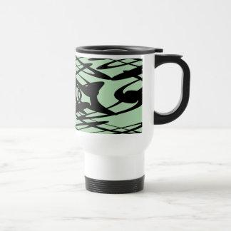 Art Nouveau Pattern in Green and Black. Mug