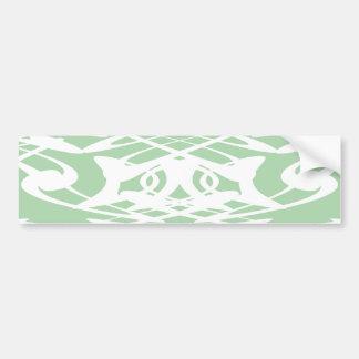 Art Nouveau Pattern in Light Green and White. Bumper Sticker