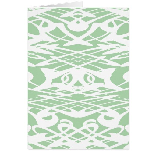 Art Nouveau Pattern in Light Green and White. Card | Zazzle