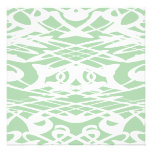 Art Nouveau Pattern in Light Green and White. Custom Invites