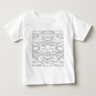 Art Nouveau Pattern in Pale Gray and White. Baby T-Shirt