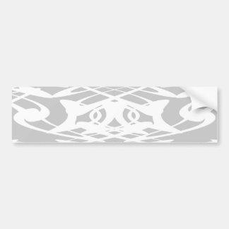 Art Nouveau Pattern in Pale Gray and White. Bumper Sticker