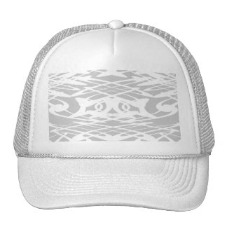 Art Nouveau Pattern in Pale Gray and White Trucker Hat