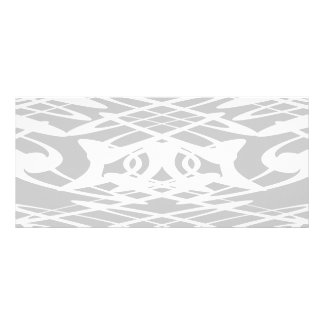 Art Nouveau Pattern in Pale Gray and White. Personalized Rack Card