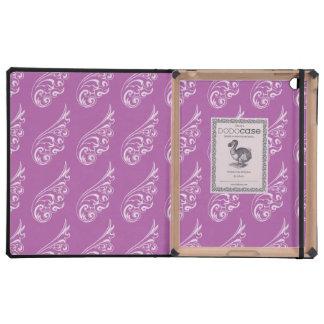 Art Nouveau pattern light purple purple iPad Cases