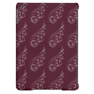 Art nouveau pattern light red red iPad air case