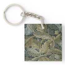 Art nouveau pattern of William Morris,vintage,bell Keychain