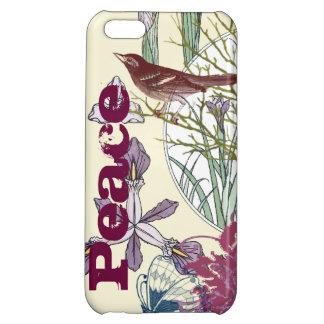 Art Nouveau Peace Butterfly Bird Flower iPhone iPhone 5C Covers