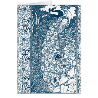 Art Nouveau Peacock Greeting Card