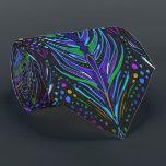 """art nouveau peacock feather necktie men&#39;s tie<br><div class=""""desc"""">elegant men&#39;s tie printed with large,  art nouveau inspired peacock feathers in purple,  blue,  and green,  against black.</div>"""