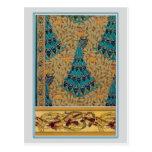 Art Nouveau Peacocks Postcards