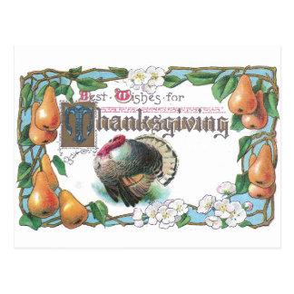 Art Nouveau Pears & Turkey Postcard