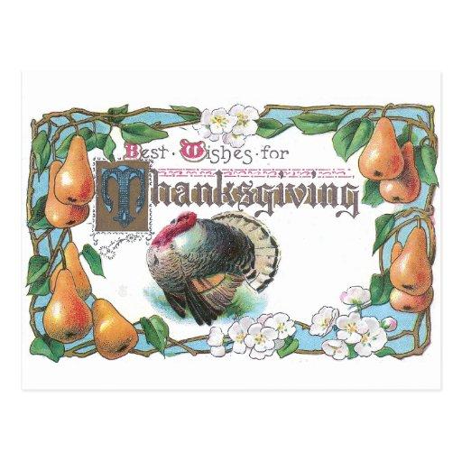 Art Nouveau Pears & Turkey Post Cards