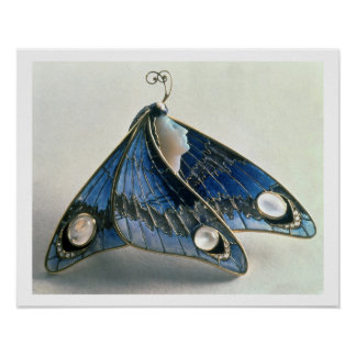 Art Nouveau pendant in the form a butterfly, c.190 Poster
