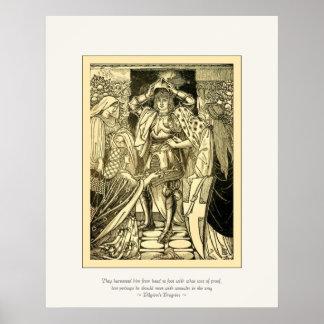 Art Nouveau Pilgrim's Progress ~ Vintage Fine Art Poster