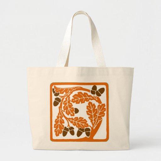 Art Nouveau Pine Cone Large Tote Bag