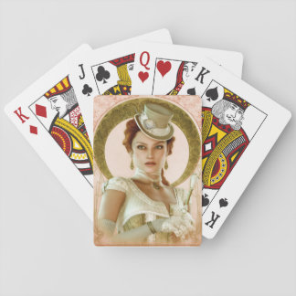 Art Nouveau Pink Playing Cards