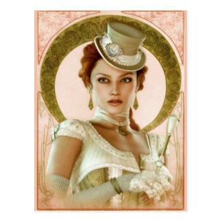 Art Nouveau Pink Postcard