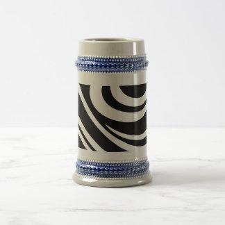Art Nouveau Planet Swirl Motif Beer Stein