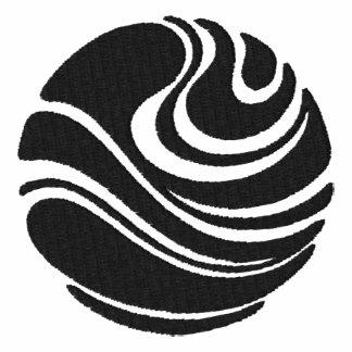 Art Nouveau Planet Swirl Motif Polo Shirt