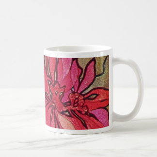 Art Nouveau Poinsettia Christmas Coffee Mug Mucha