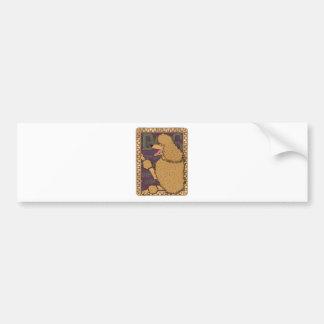 Art Nouveau Poodle Bumper Sticker