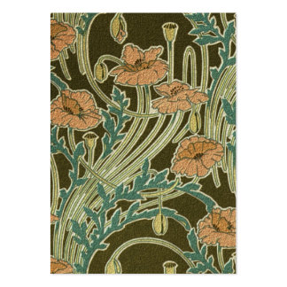 Art Nouveau Poppies Large Business Cards (Pack Of 100)